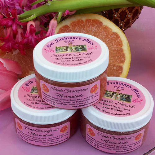 Old Fashioned Mom Pink Grapefruit Marmalade Sugar Scrub